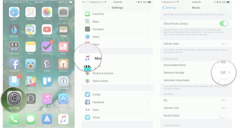 Mengoptimalkan Penyimpanan Musik di iOS 10
