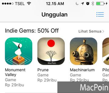 App Store Sedang Diskon Banyak Game