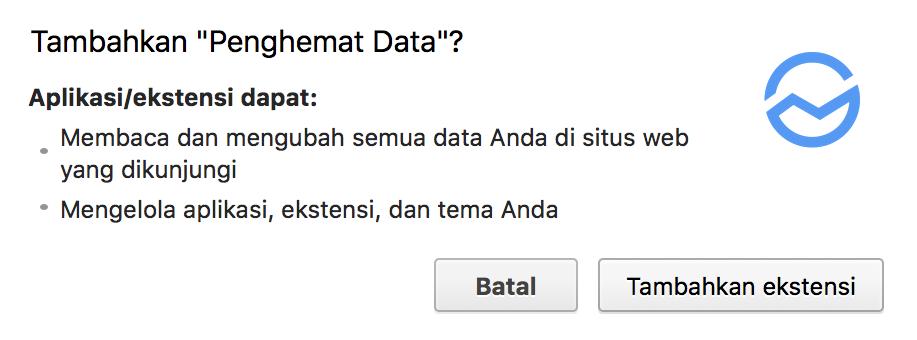 Cara Hemat Kuota Data dengan Ekstensi data saver Google Chrome