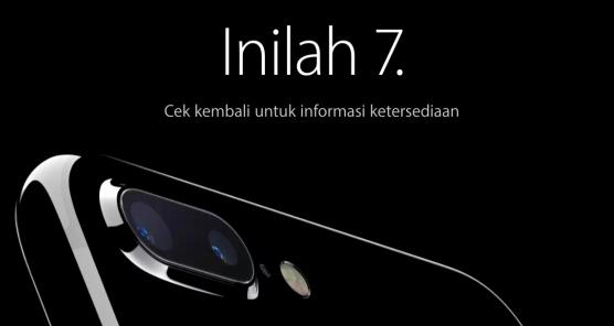 iPhone 7 Sudah Dirilis Resmi di Halaman Apple Indonesia