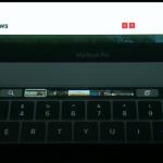 Touch Bar menampilkan preview foto