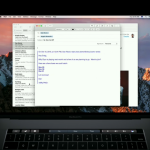 Fitur Touch Bar pada email