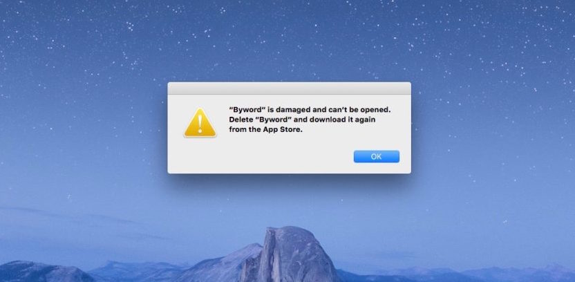 Memperbaiki Aplikasi Error Damage Tidak bisa dibuka Setelah Update macOS Sierra