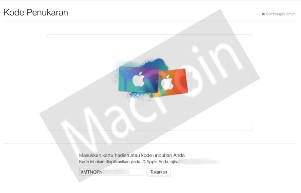 Cara Redeem Code iTunes Gift Card Mudah dan Cepat