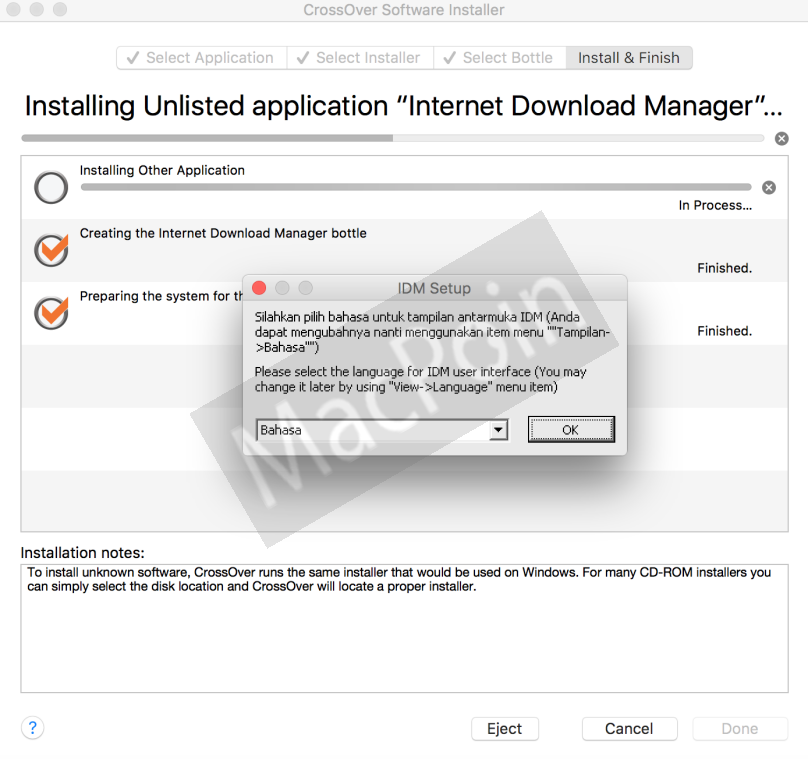 Cara Install IDM Internet Download Manager di Mac