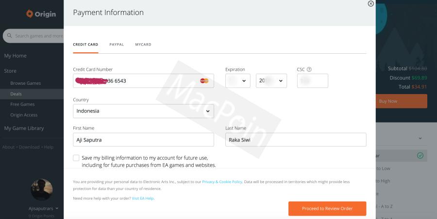 Cara Mudah Membeli Game Origin Tanpa Kartu Kredit