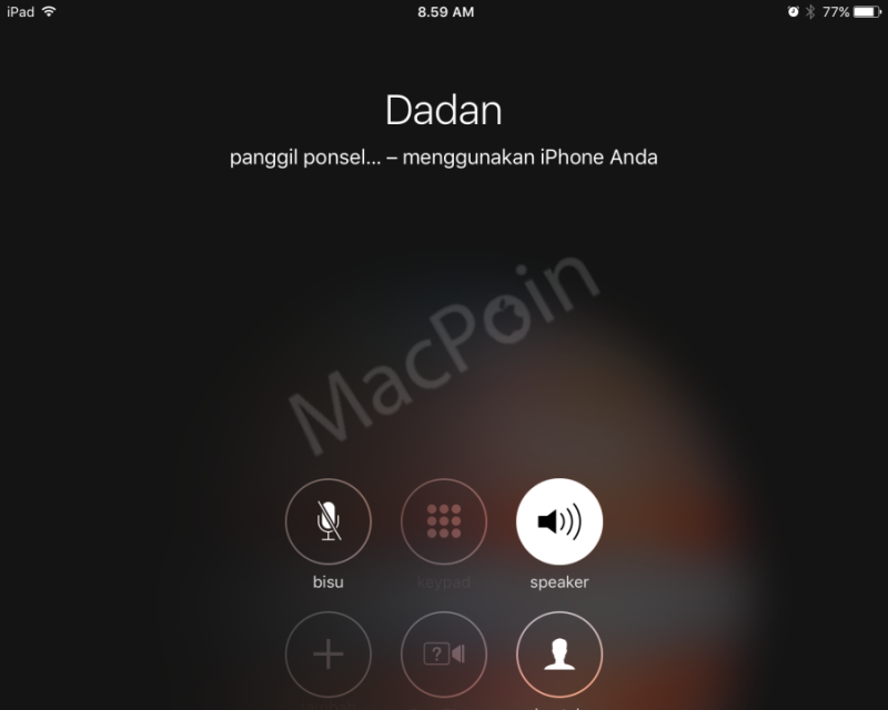 Cara Membuat Panggilan Telepon Menggunakan iPad