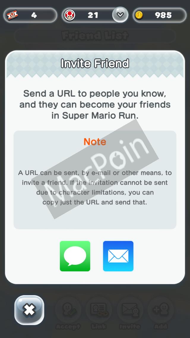 Cara Invite dan Add Friend di Super Mario Run