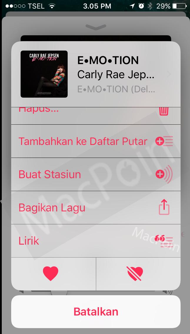 Cara Menampilkan Lirik Lagu Apple Music di iPhone