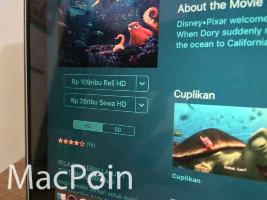 Perbedaan Konten dan Kualitas Film HD dan SD di iTunes