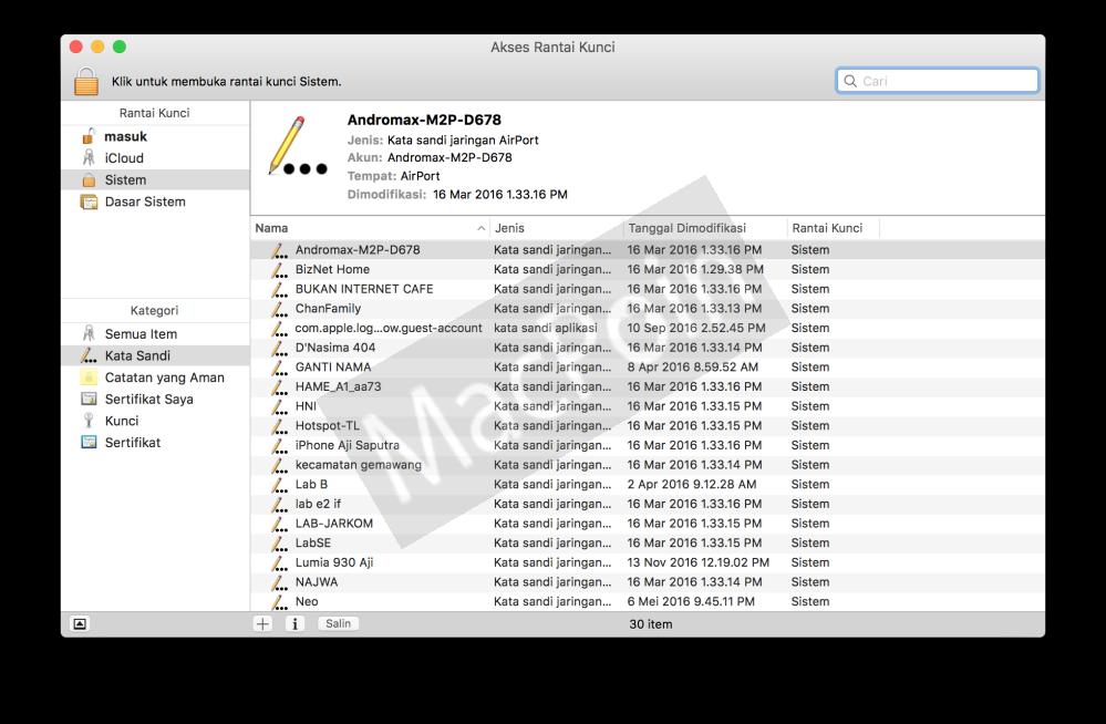 Cara Mengetahui Password Wifi Tanpa Aplikasi di Mac
