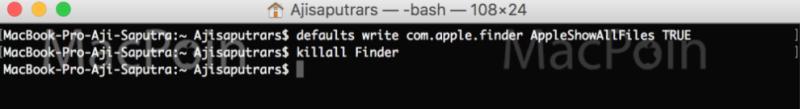 Cara Menampilkan File dan Folder Hidden di Mac