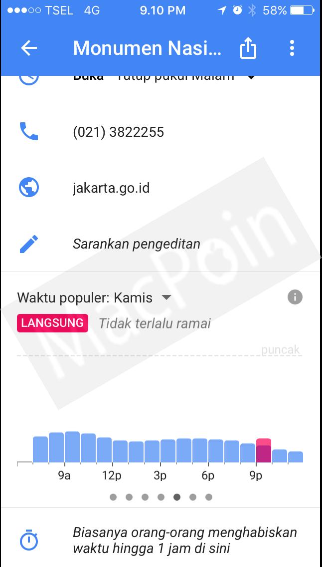 Update Terbaru Google Maps Hadirkan Fitur Popular Times