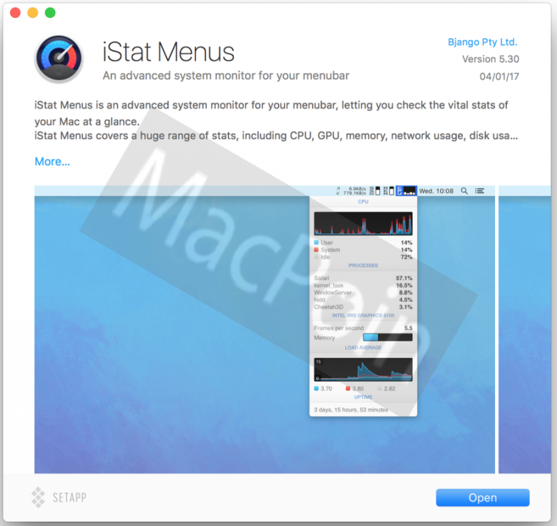 Download iStat Menu Gratis untuk Mac dan MacBook