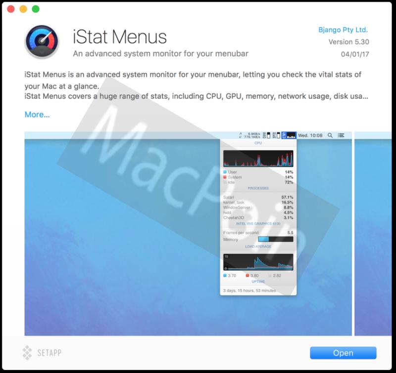 Download iStat Menu Gratis untuk Mac dan MacBook