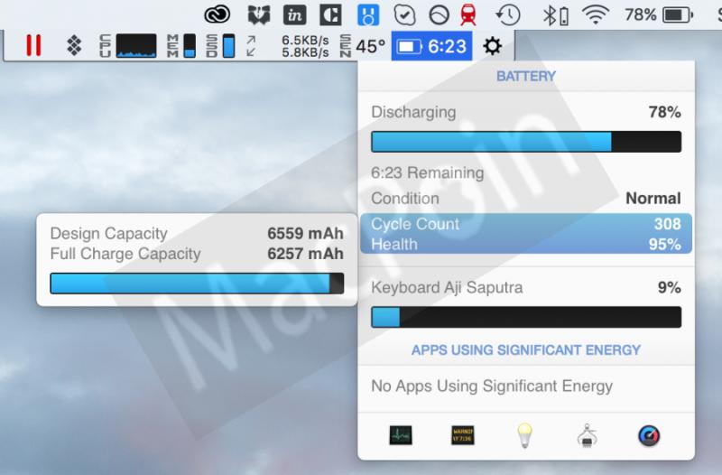Cara Cek Kapasitas Total dan Tersisa Baterai MacBook