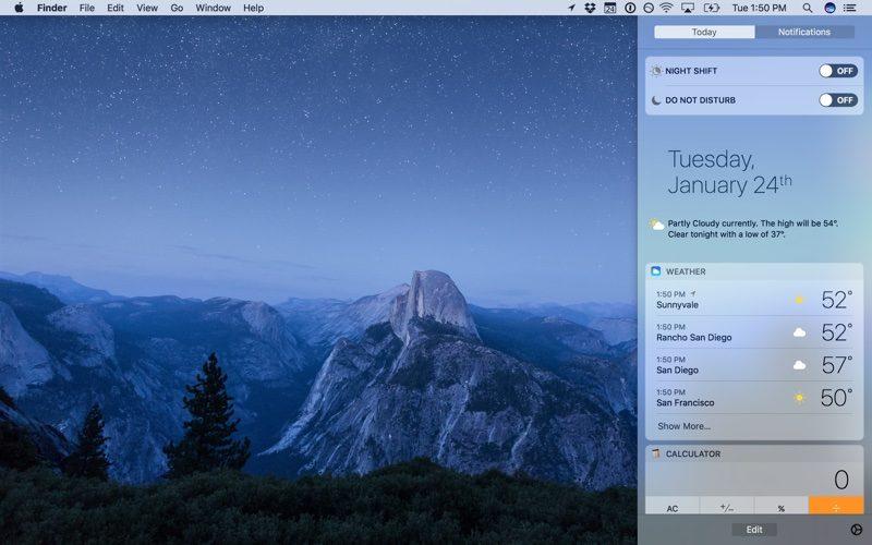 macOS Sierra 10.12.4 Hadir dengan Fitur Night Shift