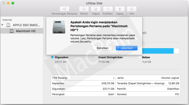 Cara Repair Disk Permissions di Mac dan MacBook