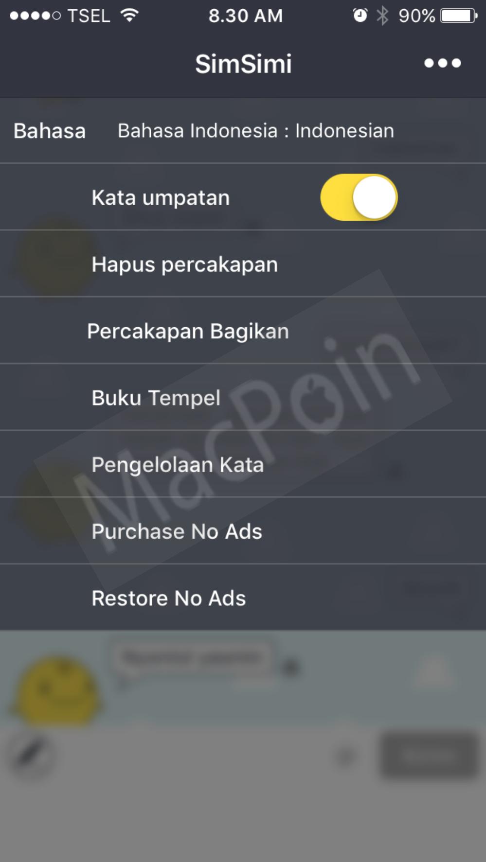 Cara Agar SimSimi Bisa Menggunakan Bahasa Indonesia