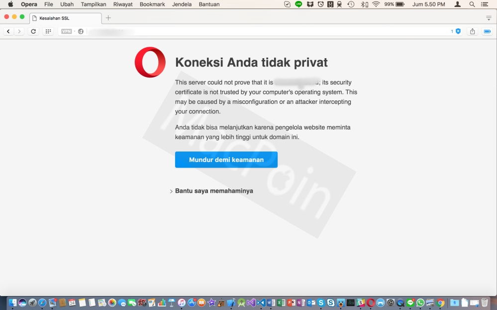 Cara Mengatasi Your Connection is Not Private