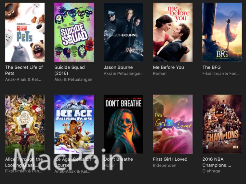 Cara Pre-Order Film dan Konten Murah di iTunes