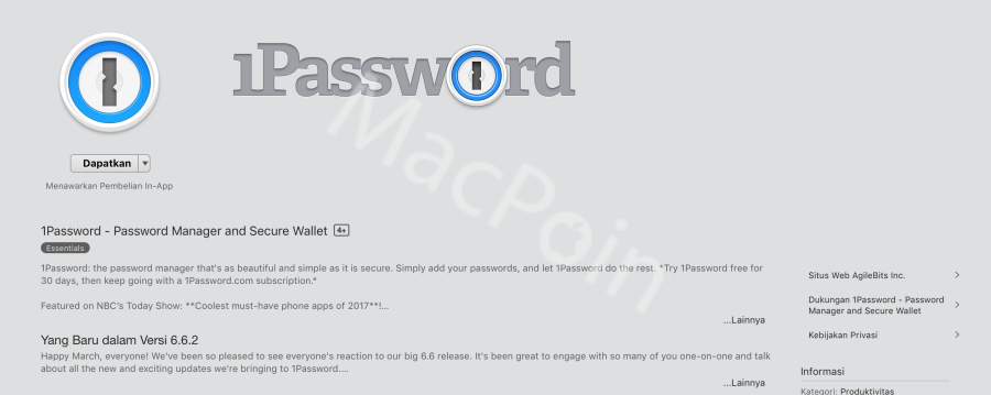 Download 1Password Gratis Sekarang di Mac dan MacBook