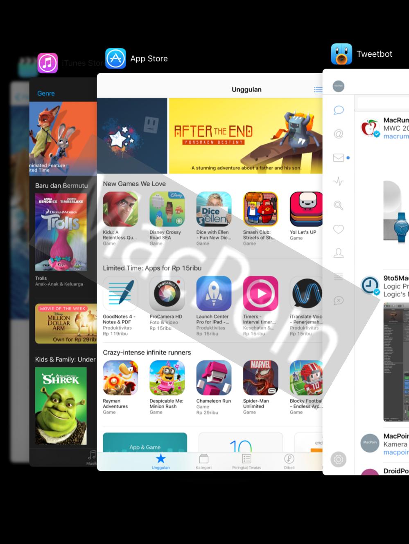 Tutorial Cara Melakukan Multitasking di iOS 10