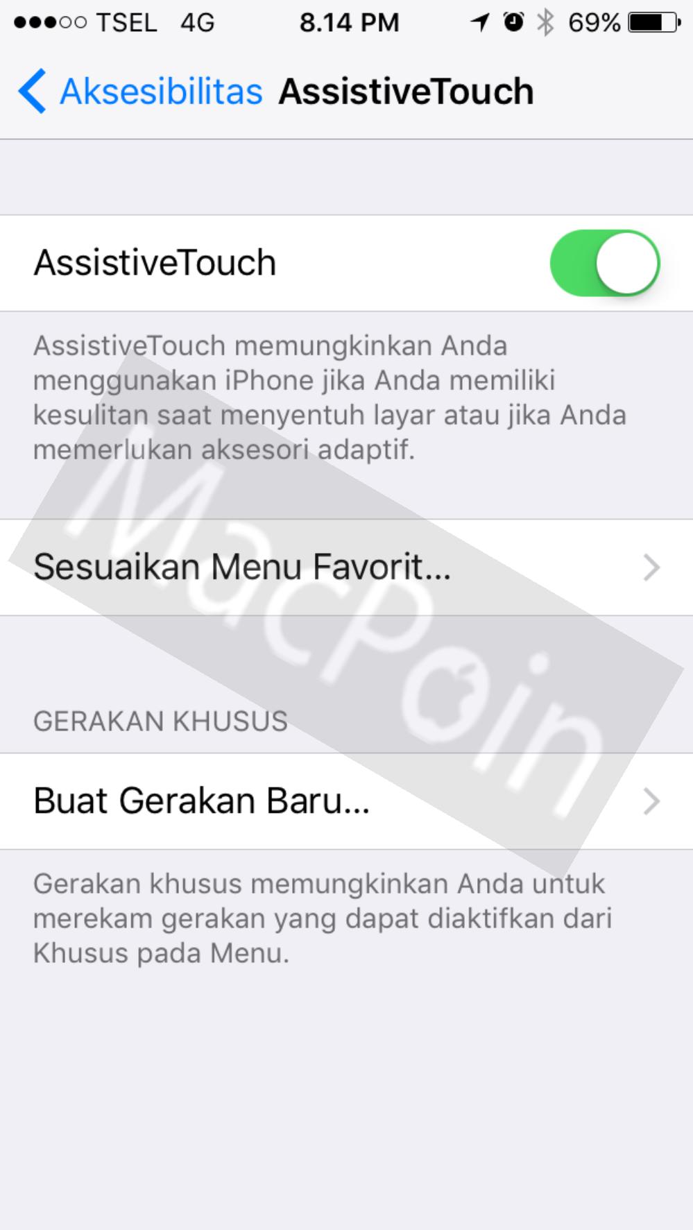 Panduan Cara Menggunakan Fungsi Assistive Touch iPhone