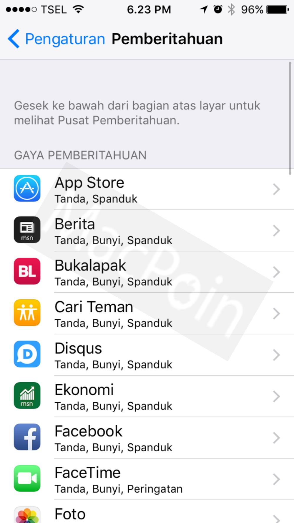 Cara Mematikan Notifikasi Aplikasi iPhone dan iPad