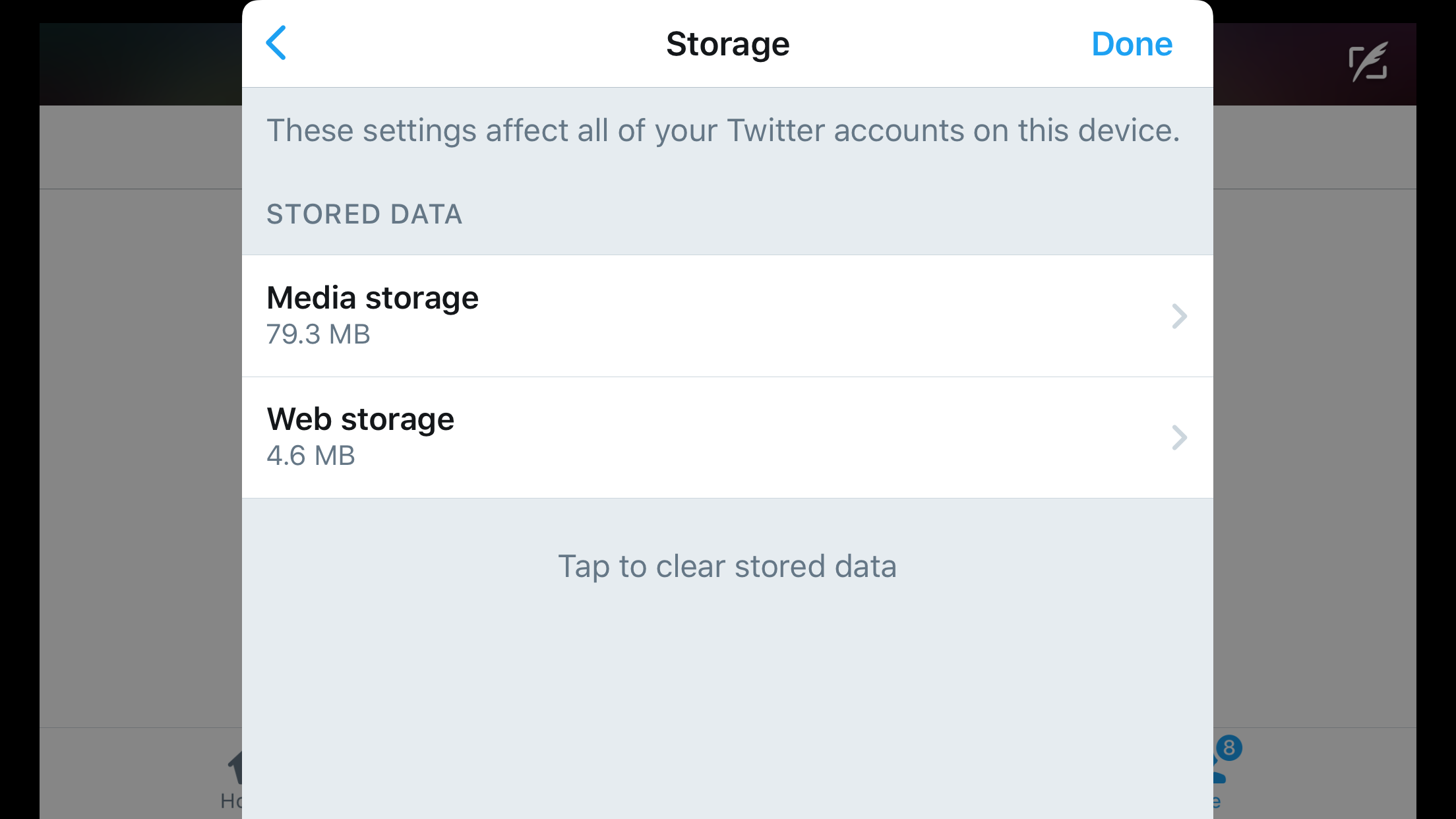 Update Twitter for iOS Memiliki Fitur Manage dan Clear Cache Data