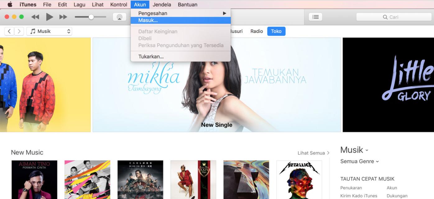 Mengatasi Masalah ID Apple Belum Pernah Digunakan di iTunes