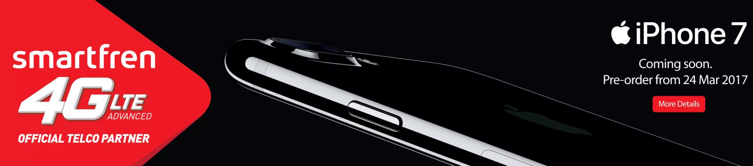Smartfren Membuka Pre-Order Resmi iPhone 7 di Indonesia