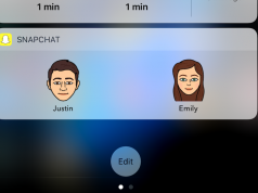 Update Terbaru Snapchat Bawa Fitur Widget Bitmoji