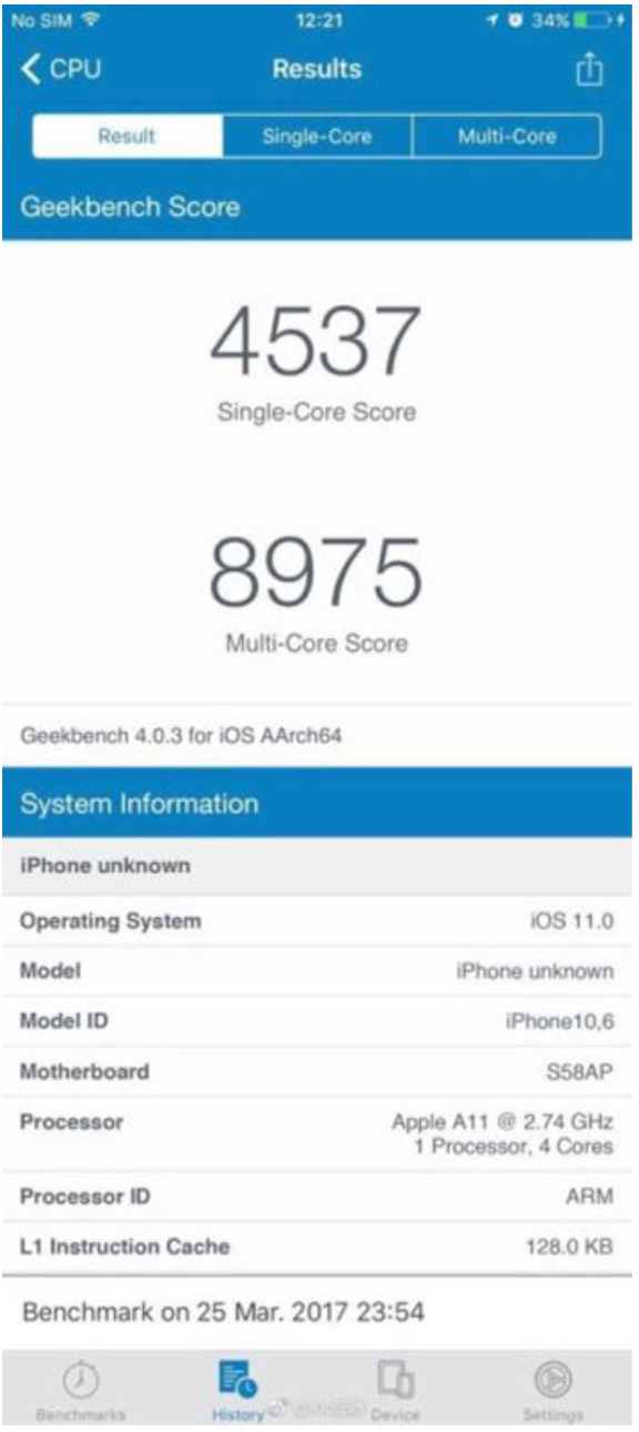 Inikah Hasil Skor Benchmark iPhone 8 Terbaru Apple?