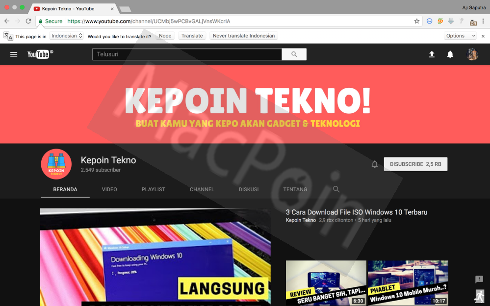 Cara Mengaktifkan Dark Mode Youtube di Google Chrome