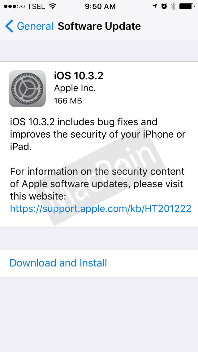 Apple Rilis Update iOS 10.3.2. Apa Saja Fitur Barunya?
