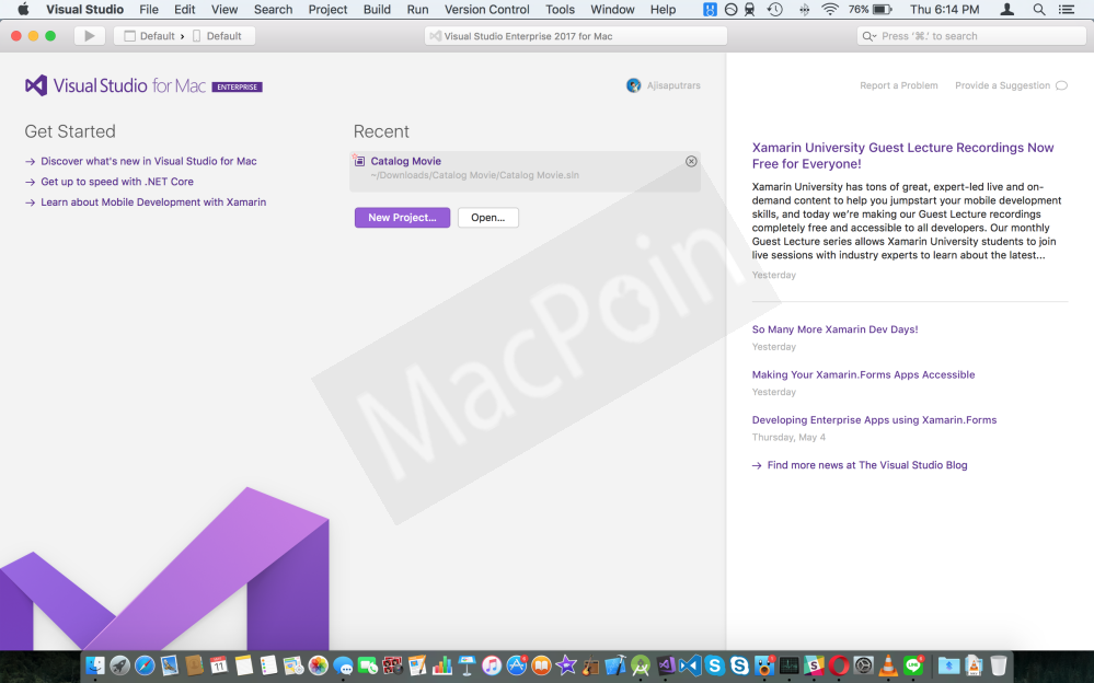 Review Performa Visual Studio 2017 for Mac Final