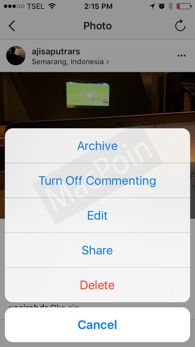 Tutorial Cara Menonaktifkan Komentar di Instagram