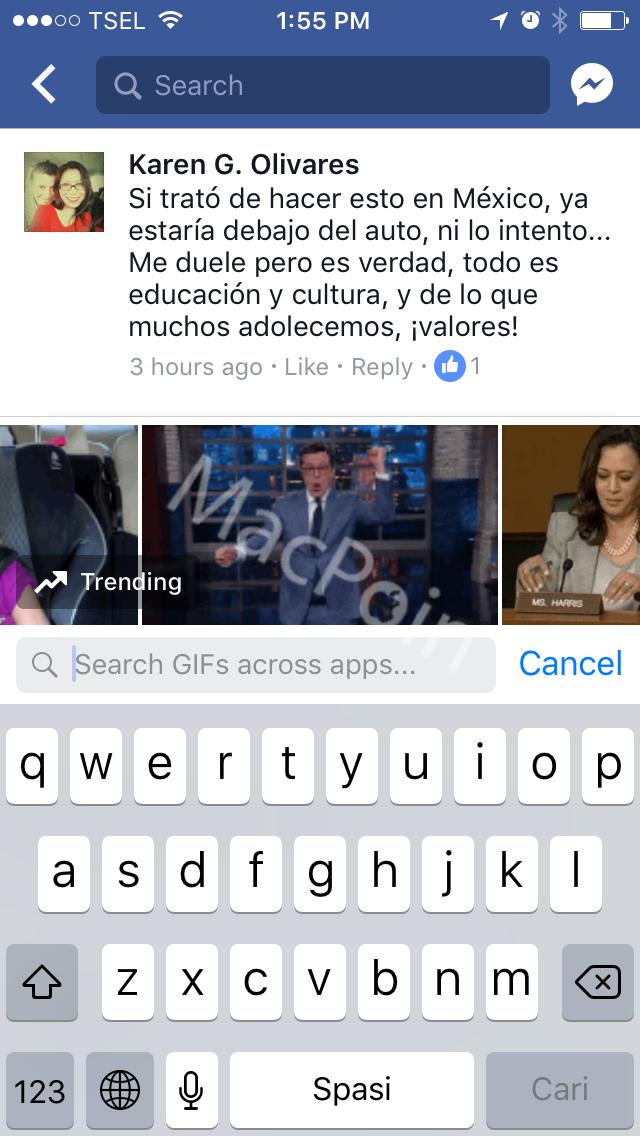 Tutorial Cara Memberikan Komentar GIF di Facebook