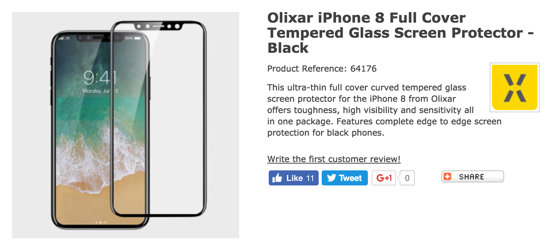 Belum Resmi Dirilis, Tempered Glass iPhone 8 Sudah Ada?