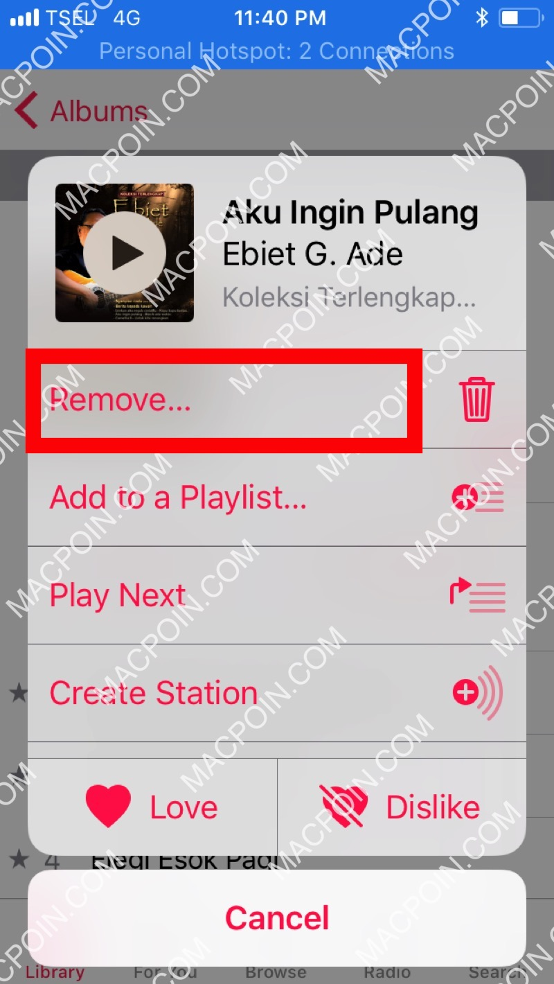 Beginilah Cara Menghapus Lagu di iPhone