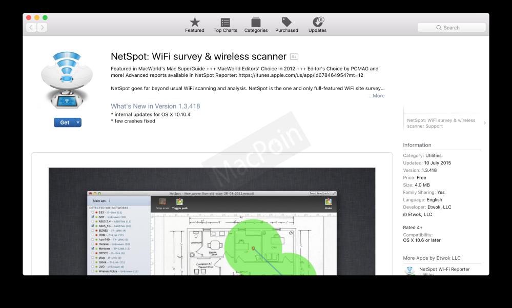 Download NetSpot Gratis Untuk Mac Berbatas Waktu