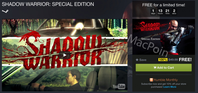 HOT: Download Gratis Shadow Warrior Special Edition