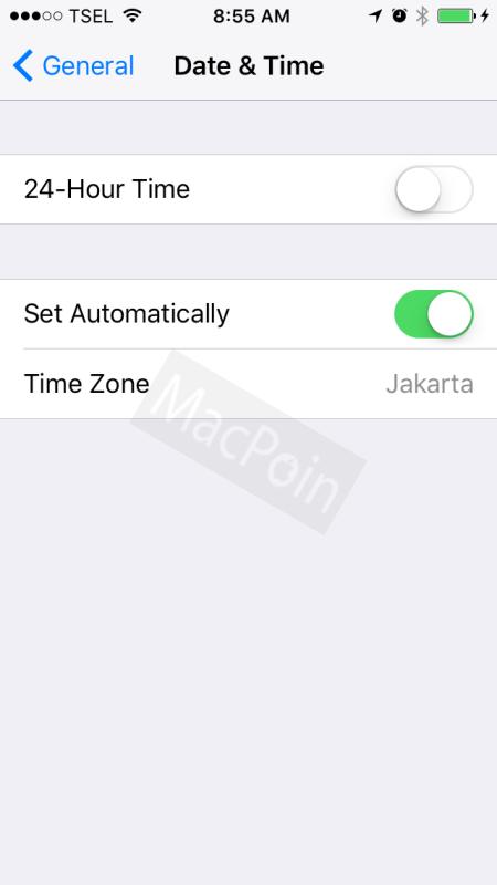 Mengatasi Error Waktu Dan Jam Tidak Sesuai di iPhone