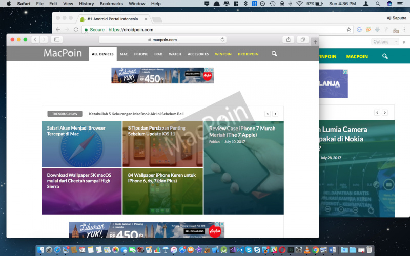 Cara Split Screen Window di Mac Menggunakan Magnet