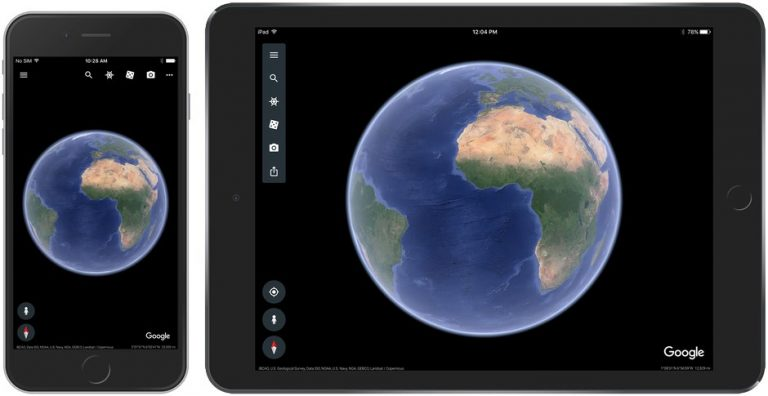 Update Google Earth iOS Rilis Fitur Voyager, Orbit 3D dan Postcards