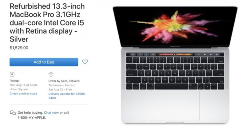 Apple Mulai Jual MacBook Pro 13 Inch 2017 Refurbished