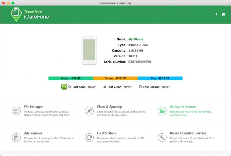 iCareFone for Mac: Tool iPhone Serbaguna (File Manager, Membersihkan, Memperbaiki, dsb)
