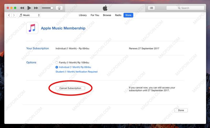 Cara Berhenti Berlangganan Apple Music