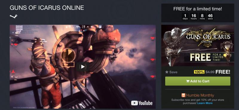 HOT: Download Gratis Guns of Icarus Online Berbatas Waktu